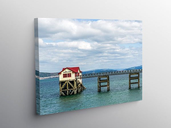The Old Mumbles Lifeboat Station, Canvas Print