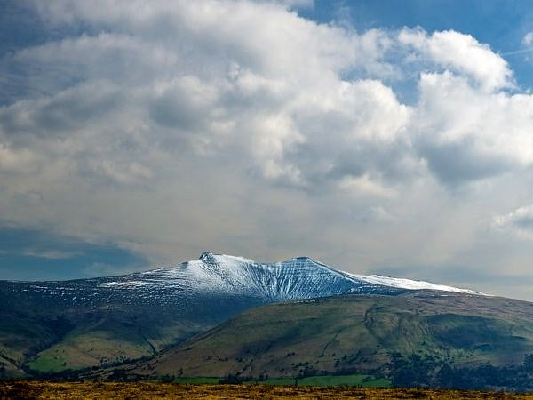 Pen y Fan and Corn Du Winter Snow