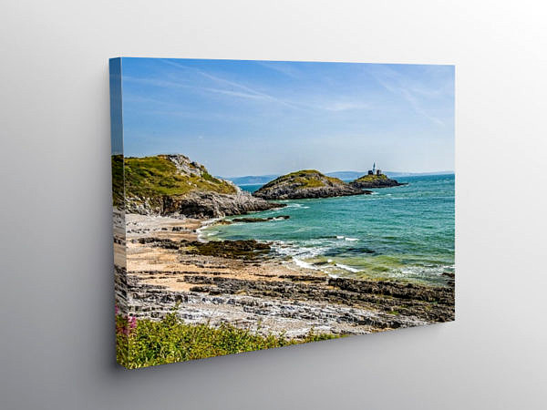 Bracelet Bay on the South Gower Coast, Canvas Print