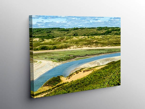 River Ogmore Ogmore by Sea, Canvas Print