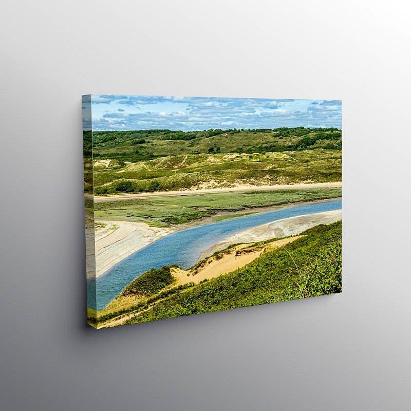 River Ogmore Ogmore by Sea, Canvas Print