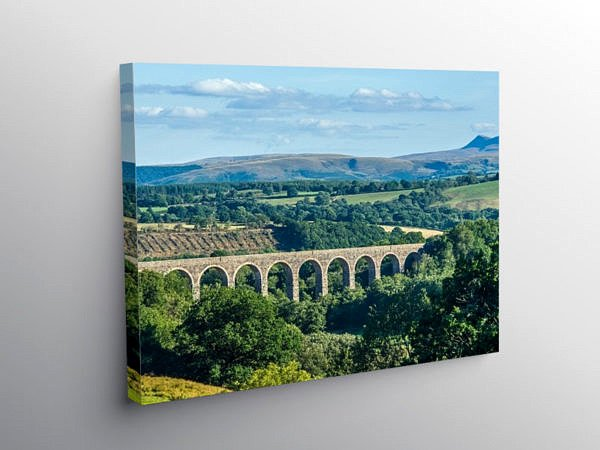 Cynghordy Railway Viaduct Mid Wales, Canvas Print
