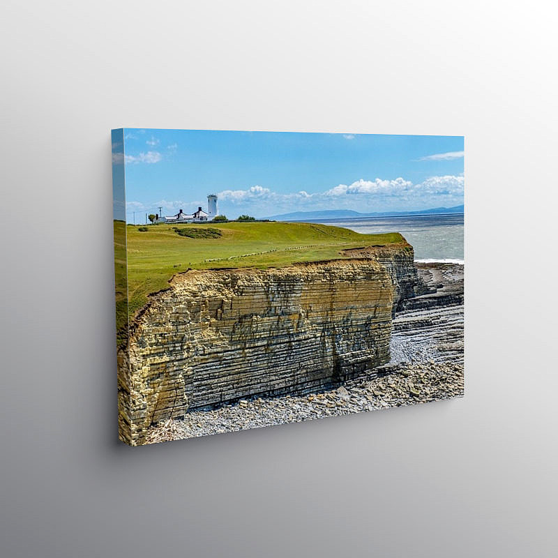 Nash Point and Old Lighthouse, Canvas Print