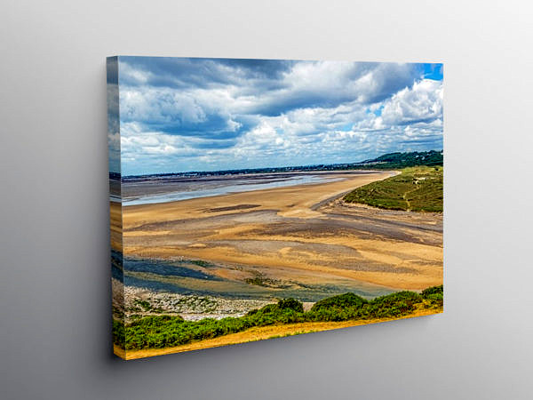 River Ogmore Estuary Ogmore by Sea, Canvas Print