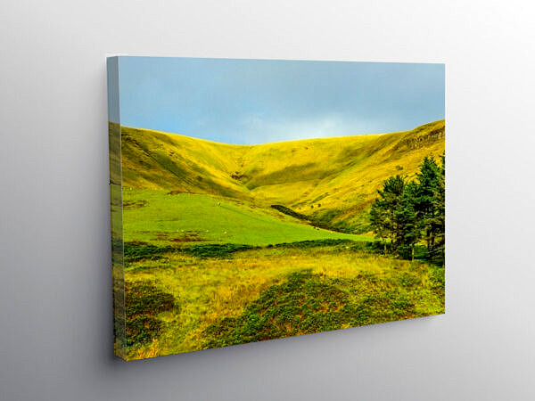 The top of the Garw Valley near Bridgend, Canvas Print