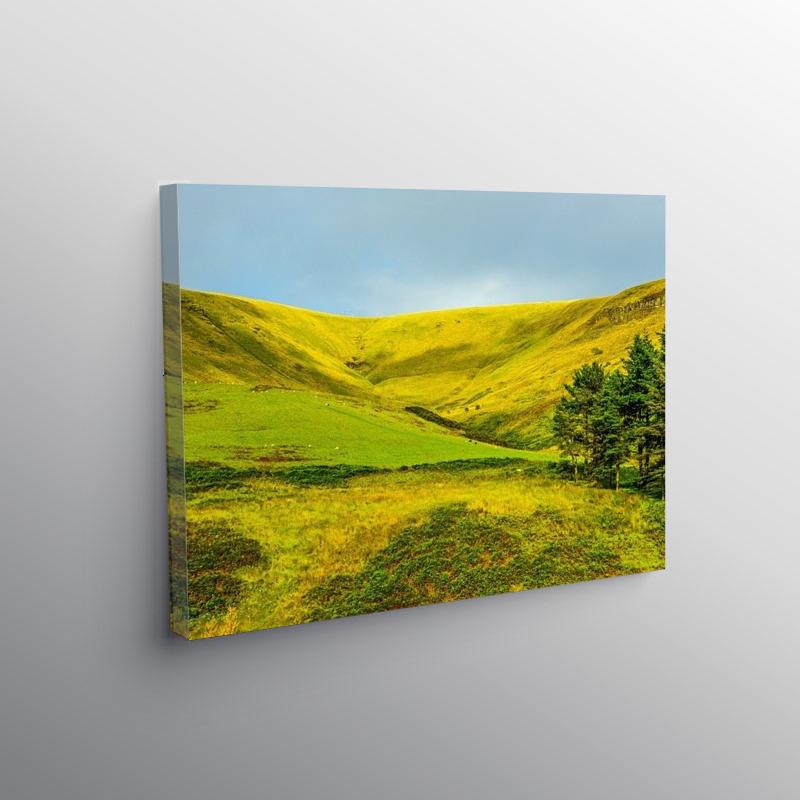 The top of the Garw Valley near Bridgend, Canvas Print