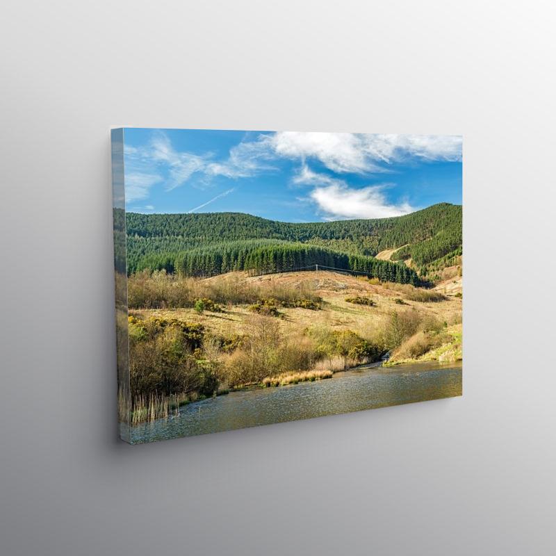 Lake and Nature Reserve Garw Valley Blaengarw, Canvas Print