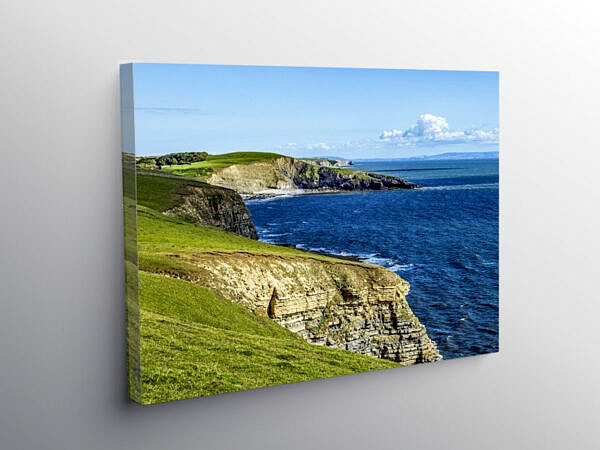 Glamorgan Heritage Coast Ogmore by Sea, Canvas Print