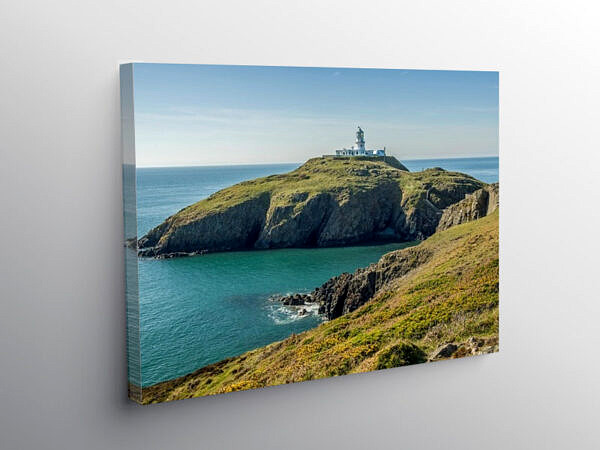 Strumble Head Lighthouse North Pembrokeshire, Canvas Print