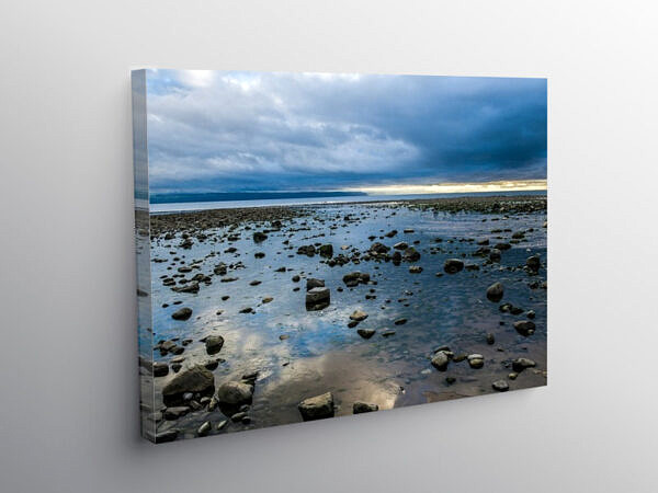 Llantwit Major Beach Evening, Canvas Print