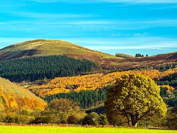 Tor y Foel from the Talybont Valley in Autumn Brecon Beacons