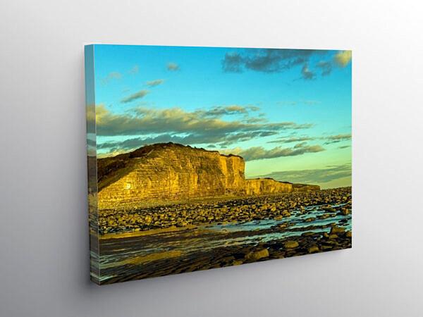 Cliffs at Llantwit Major Beach, Canvas Print