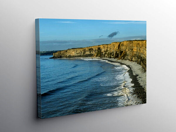 Nash Point Beach Glamorgan Heritage Coast Cliffs, Canvas Print