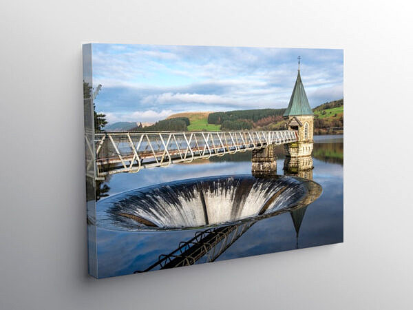 Pontsticill Reservoir Merthyr Tydfil Brecon Beacons, Canvas Print