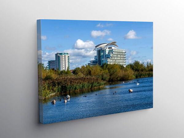 Cardiff Bay Wetlands for Wildlife, Canvas Print