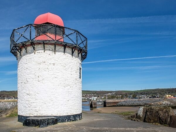Lighthouse at Burry Port Harbour Entrance