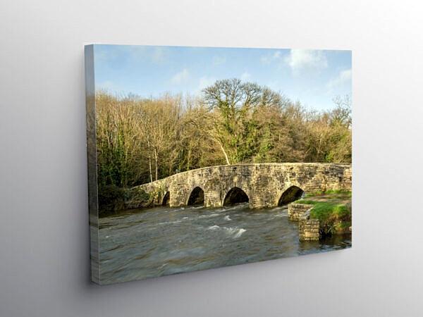 Merthyr Mawr Dipping Bridge Bridgend, Canvas Print