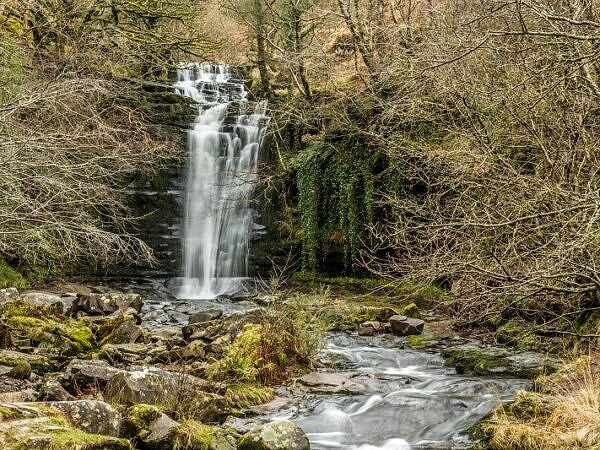Blaen y Glyn Waterfall Brecon Beacons National Park