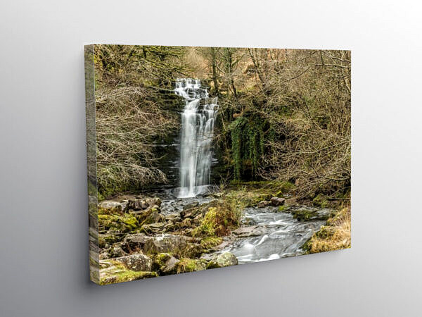 Blaen y Glyn Waterfall Brecon Beacons National Park, Canvas Print