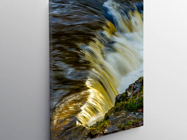 A section of the Horseshoe Falls Vale of Neath in Autumn, Canvas Print