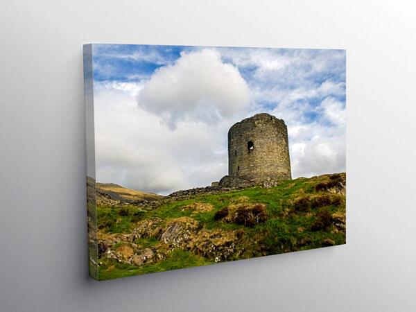 Dolbadarn Castle Tower Llanberis Gwynedd, Canvas Print