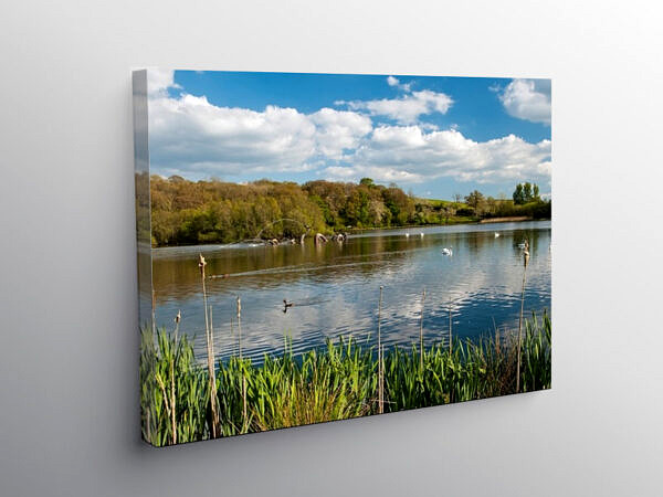 The Lake Llandrindod Wells Powys Mid Wales, Canvas Print