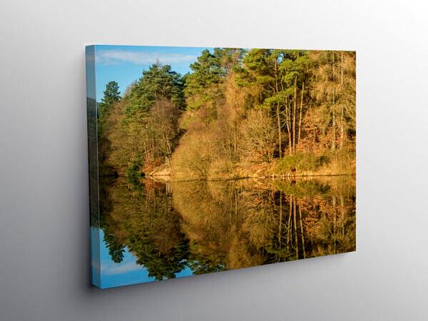 Clydach Reservoir Llanwonno Forest Rhondda Fawr South Wales, Canvas Print