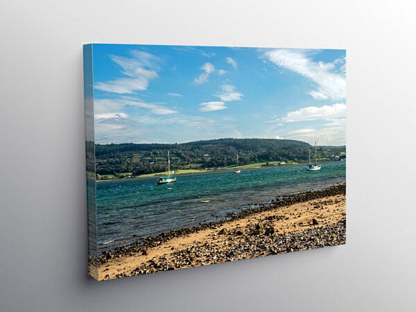 Red Wharf Bay Traeth Coch on the Anglesey Coast, Canvas Print