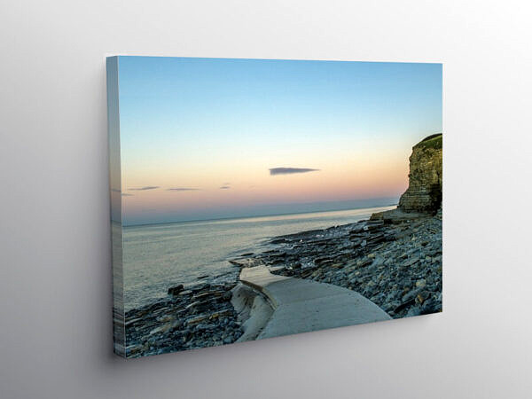 Dunraven Bay in the Early Dawn Glamorgan Coast, Canvas Print