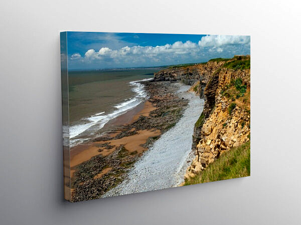 Cliffs between Nash Point and Cwm Nash Glamorgan Coast, Canvas Print