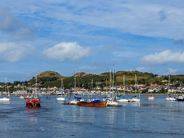 The River Conwy Estuary at Conwy, North Wales