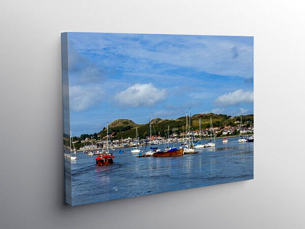 The River Conwy Estuary at Conwy, North Wales, Canvas Print