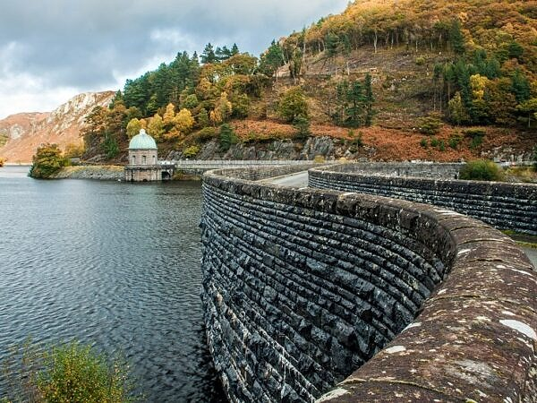 Garreg Ddu Reservoir and Dam Elan Valley Mid Wales