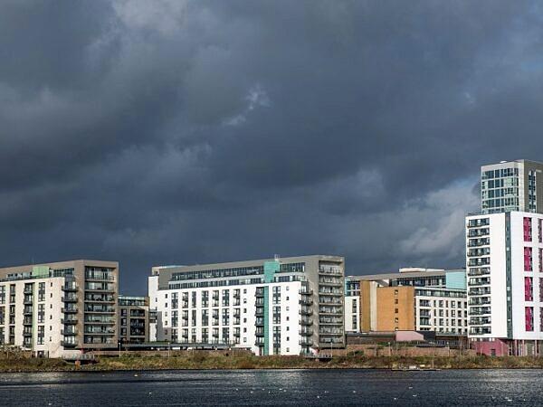 Modern apartments at Cardiff Bay south Wales