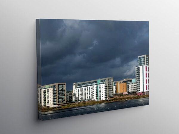 Modern apartments at Cardiff Bay south Wales, Canvas Print