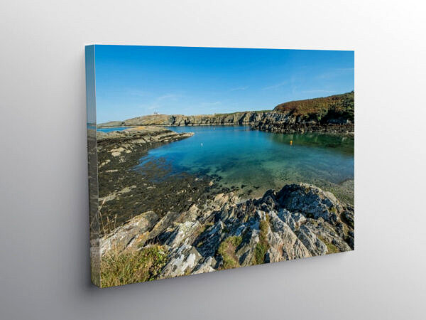 Porth Eilian on the North West corner of Anglesey, Canvas Print