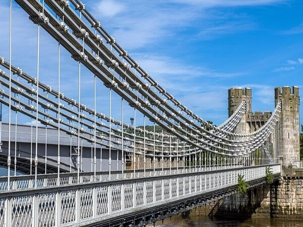 Conwy Suspension Bridge North Wales