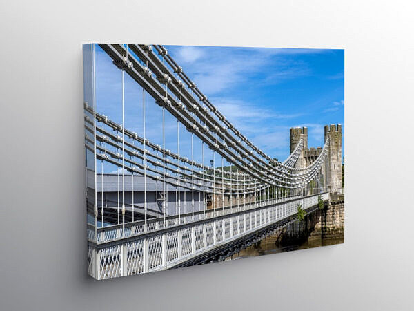 Conwy Suspension Bridge North Wales, Canvas Print
