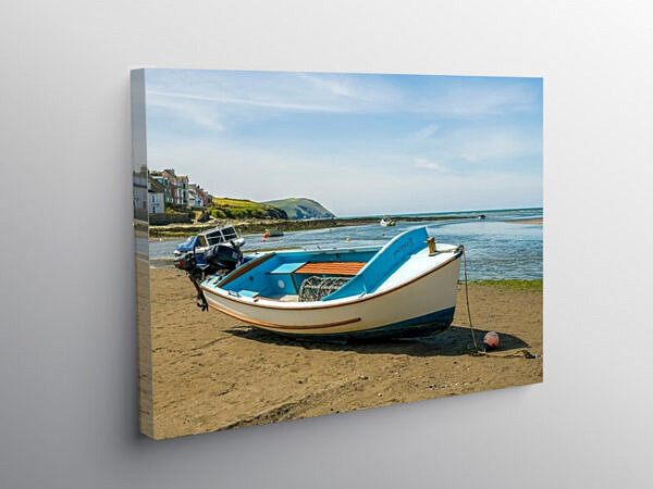 The Parrog Sands Newport Beach Pembrokeshire, Canvas Print