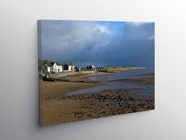 Pendine Beach between Sunshine and Heavy Showers, Canvas Print