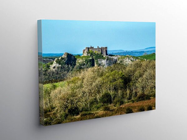 Carreg Cennen Castle Brynamman Road Carmarthenshire, Canvas Print