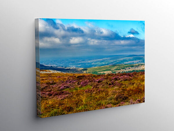 View over the Usk Valley from the Blorenge, Canvas Print