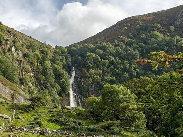 The Aber Falls near Abergwyngregyn Gwynedd