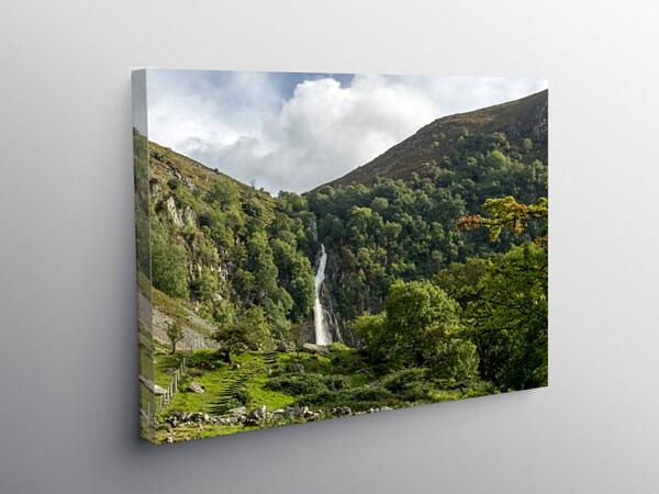The Aber Falls near Abergwyngregyn Gwynedd, Canvas Print