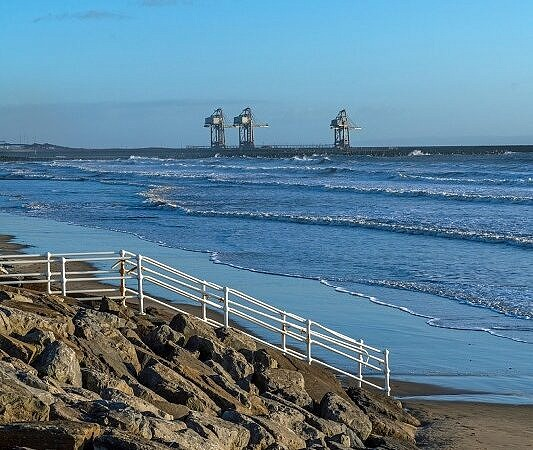 Aberavon Beach and Cranes