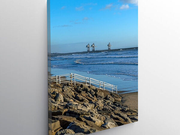 Aberavon Beach and Cranes South Wales Coast, Canvas Print