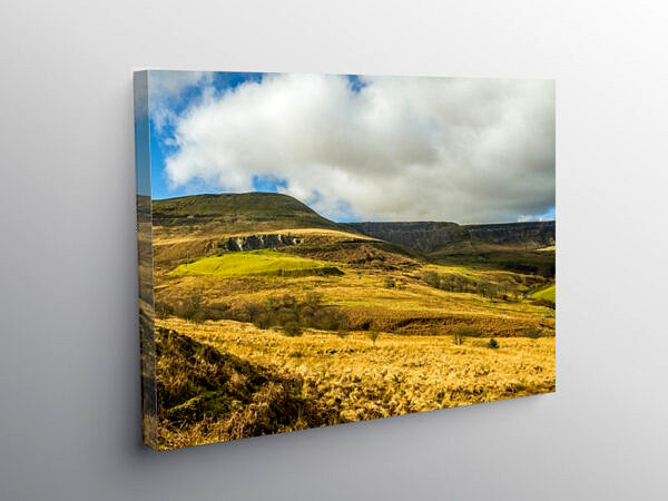 Head of Cwmparc in the Rhondda Valley south Wales, Canvas Print