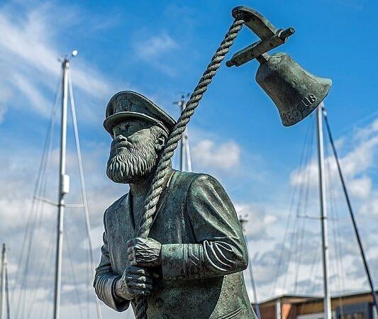 Captain Cat Statue Swansea Marina South Wales