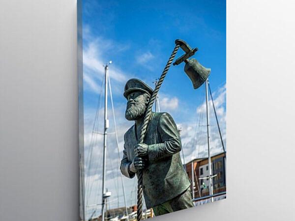 Captain Cat Statue Swansea Marina South Wales, Canvas Print