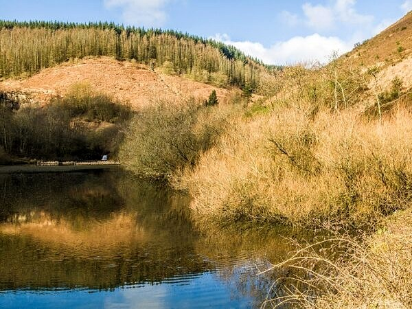 Clydach Pool or Pond at the Enf of the Clydach Valley, Rhondda